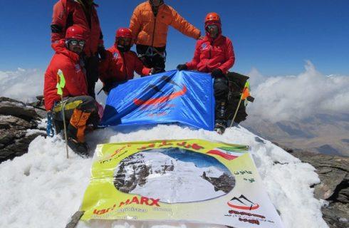 اولین صعود ایرانیان به قله کارل مارکس تاجیکستان به یاد زنده یاد احمد نیک بیان