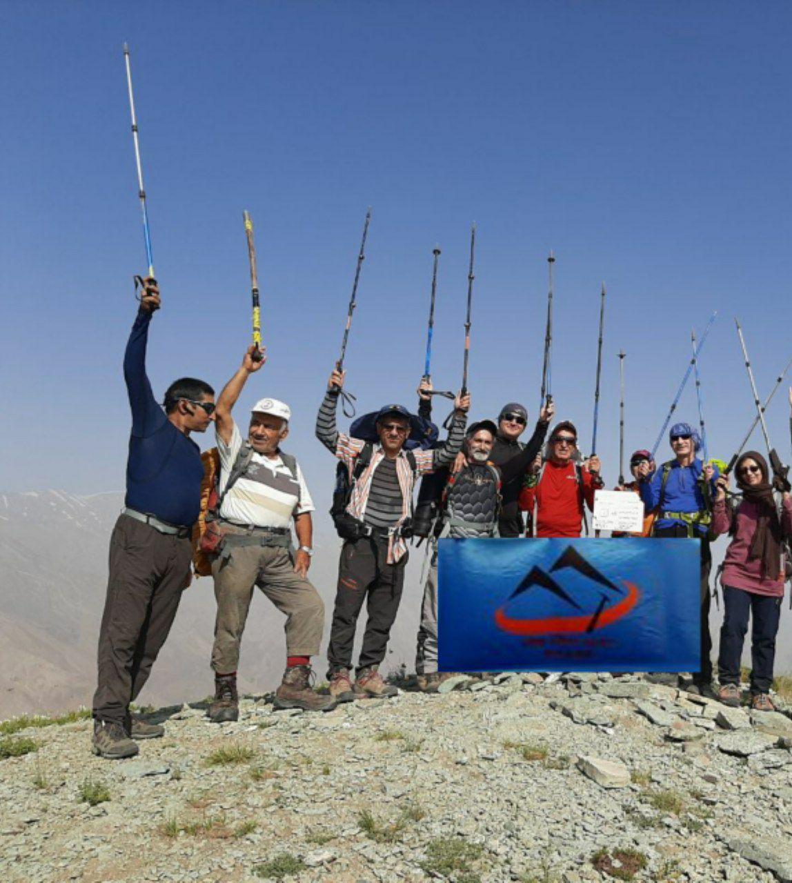صعود همنوردان کانون کوه به  قله کلوگان
