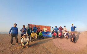 تمرین دوشنبه های کانون کوه  با رعایت فاصله فیزیکی و پروتکل بهداشتی