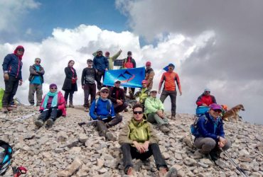 صعود کوهنوردان کانون کوه به قله ناز