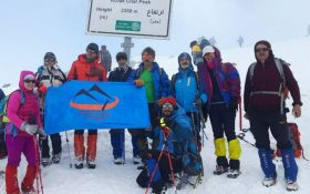 صعود کوهنوردان کانون کوه به قله کلکچال