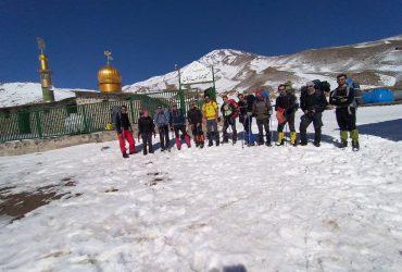 گزارش برنامه صعود تیم منتخب استان البرز به قله دماوند بهمن ۹۹