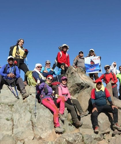 پیمایش خط الراس چین کلاغ به قله توچال